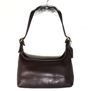 Vintage Coach brown leather hobo bag